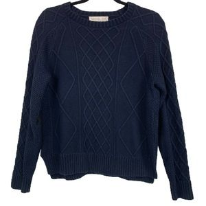 Rachel Zoe Crew Neck Knit Sweater in Dark Blue